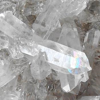 お部屋の浄化・中国産水晶クラスター・レインボー